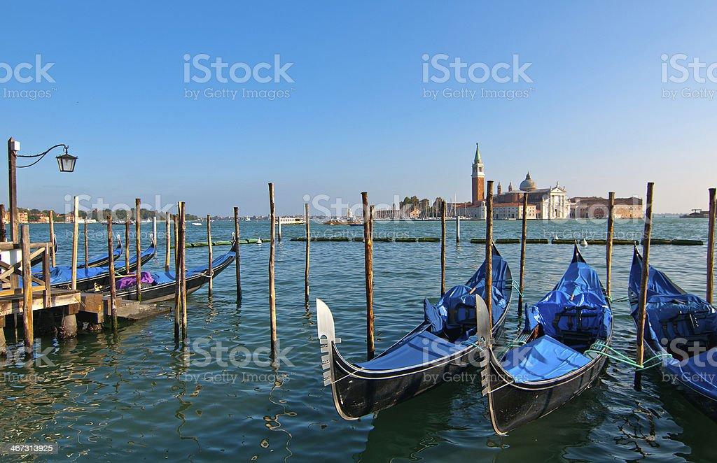 Venice Italy pittoresque view of gondolas royalty-free stock photo