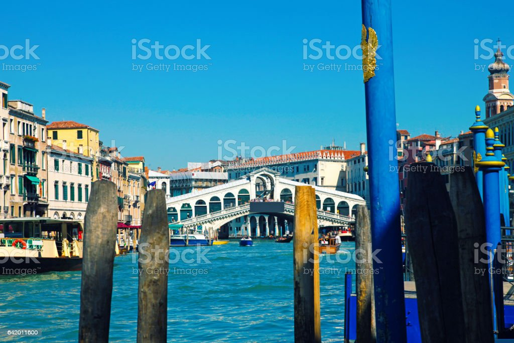 Venice Italy Rialto Bridge stock photo