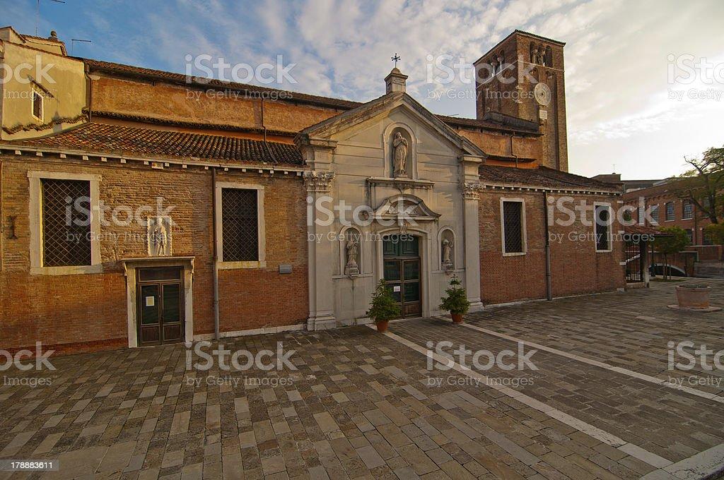 Venice Italy San Nicolo dei mendicoli church royalty-free stock photo
