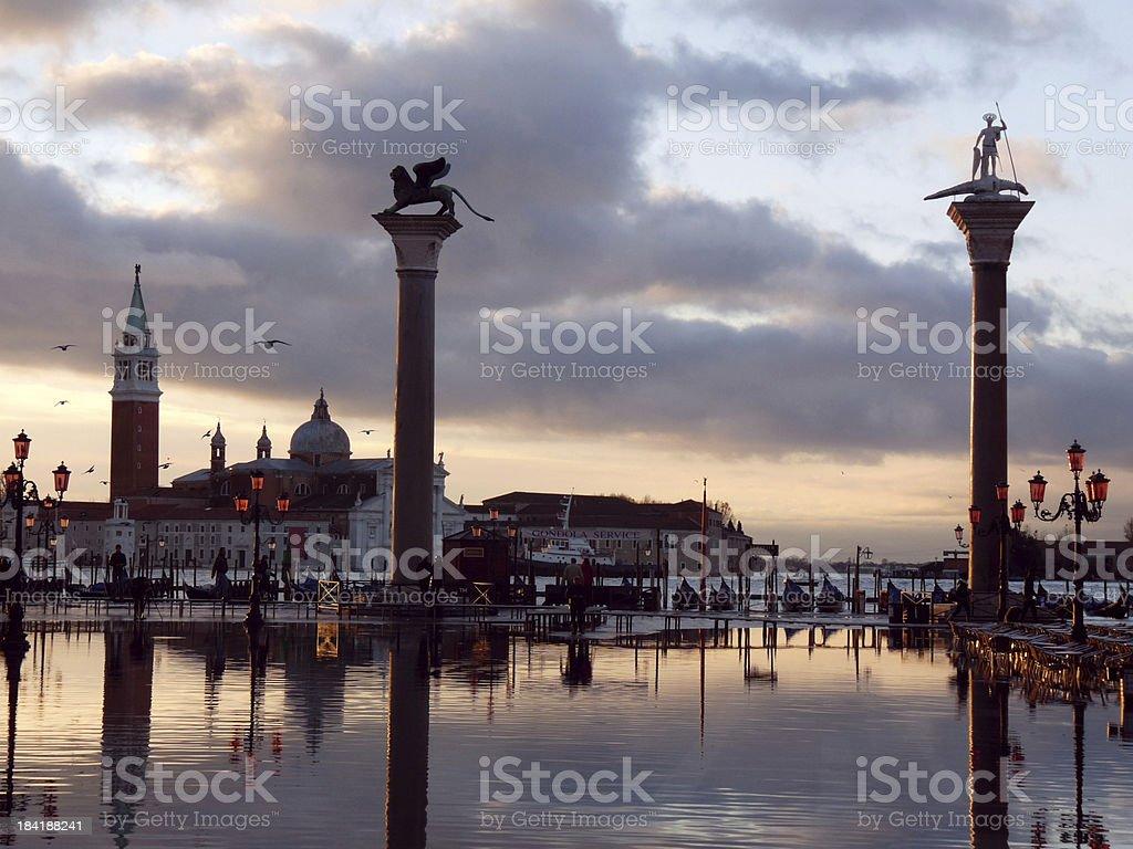 Venice, Italy, Sunset royalty-free stock photo