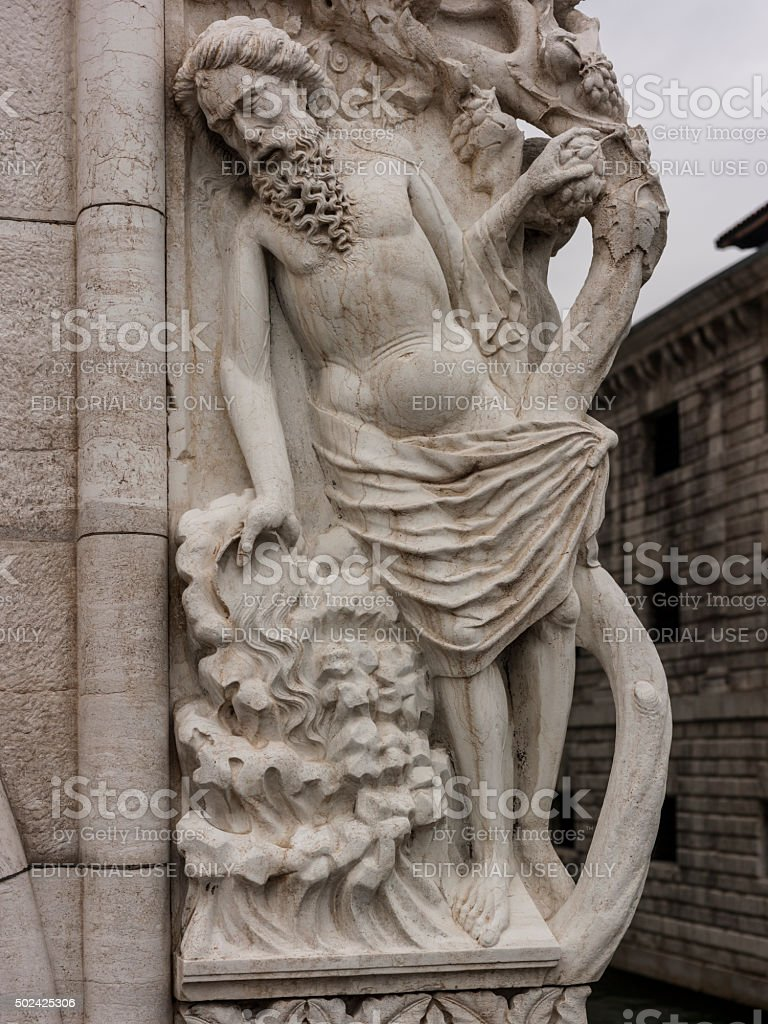 Venice, Italy. The Doge's Palace. Detail of the facade stock photo