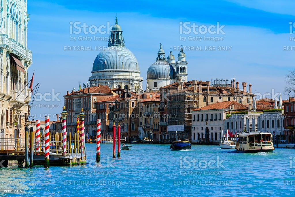Venice, Italy  : View from S.Marco harbour on Sa stock photo