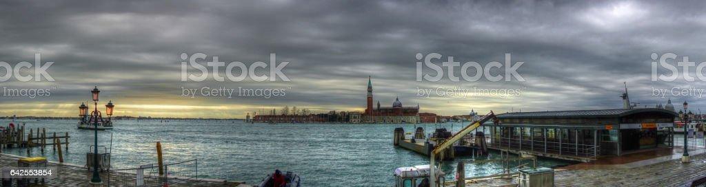 Venice Lagoon at Sunset stock photo