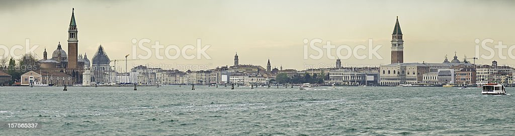 Venice Lagoon Campanile sunrise Grand Canal St Marks Square Italy royalty-free stock photo
