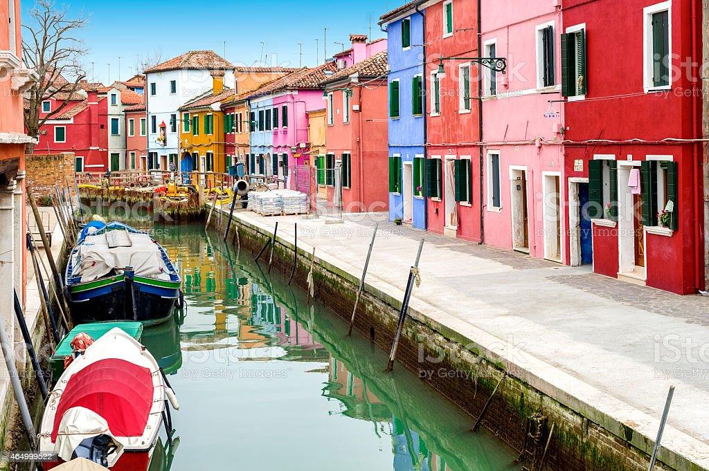 Venice landmark - Burano stock photo