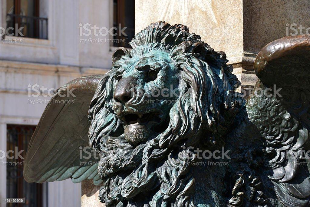 Venice Lion statue stock photo