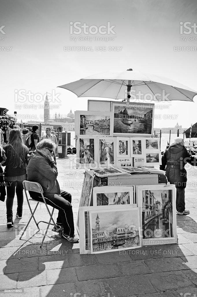 Venice Market stall stock photo