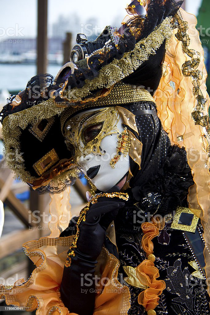 Venice mask and costume royalty-free stock photo