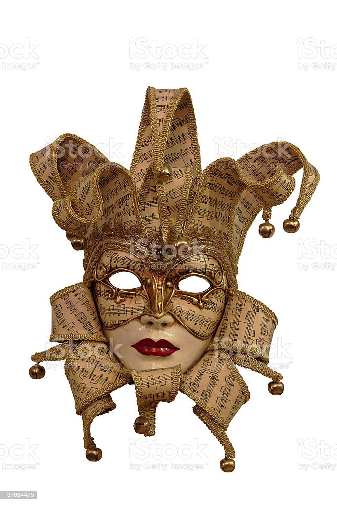 venice mask with clipping path royalty-free stock photo