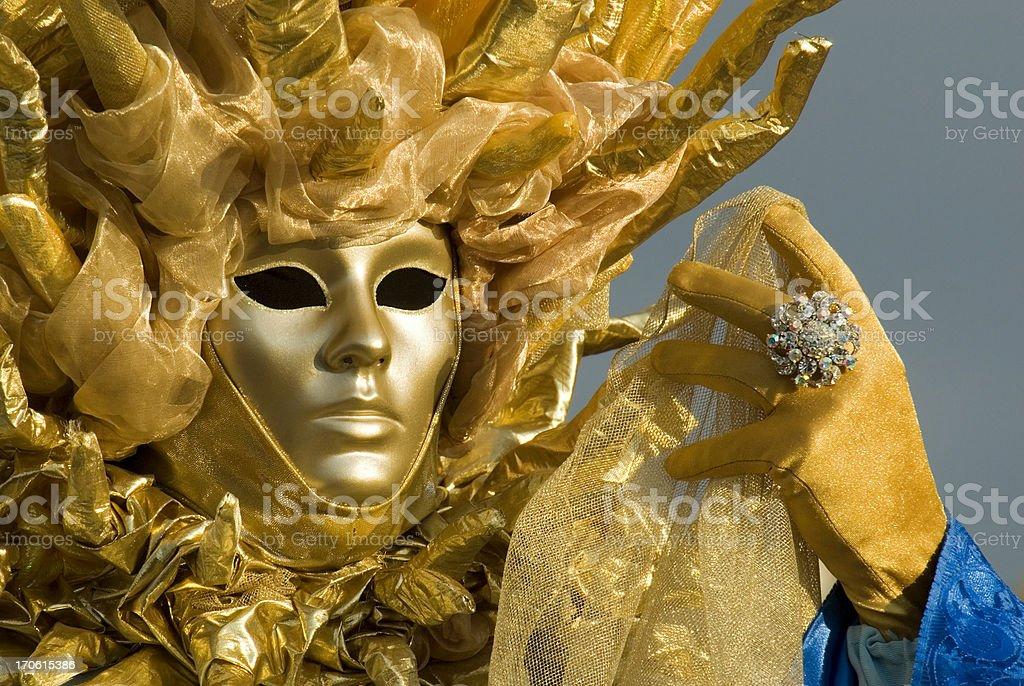 Venice Masquerader royalty-free stock photo