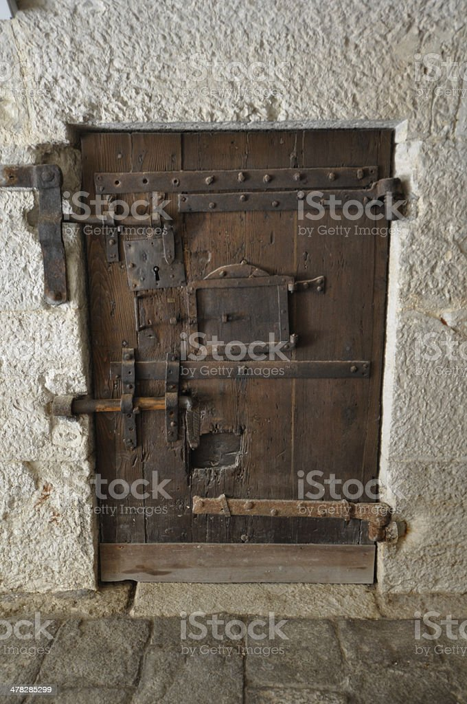 Venice - medieval presion locked door royalty-free stock photo