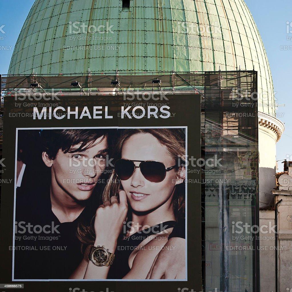 Venice - Michael Kors commercial sign stock photo