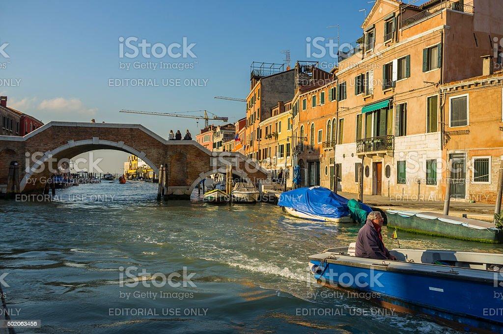 Venice. Morning on Cannaregio Canal stock photo