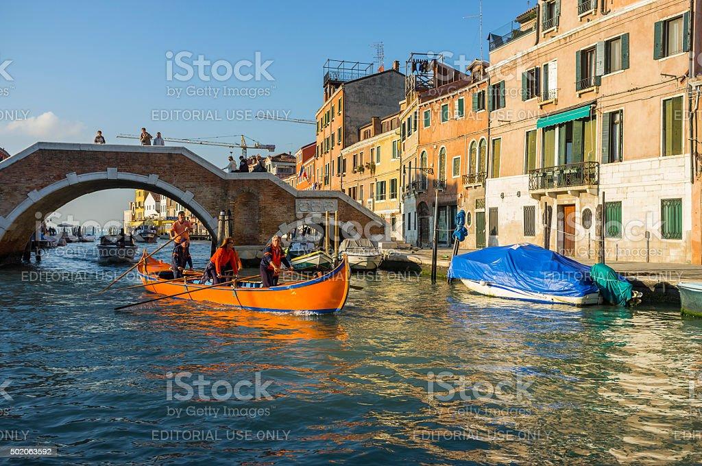 Venice. Morning on the Cannaregio Canal stock photo