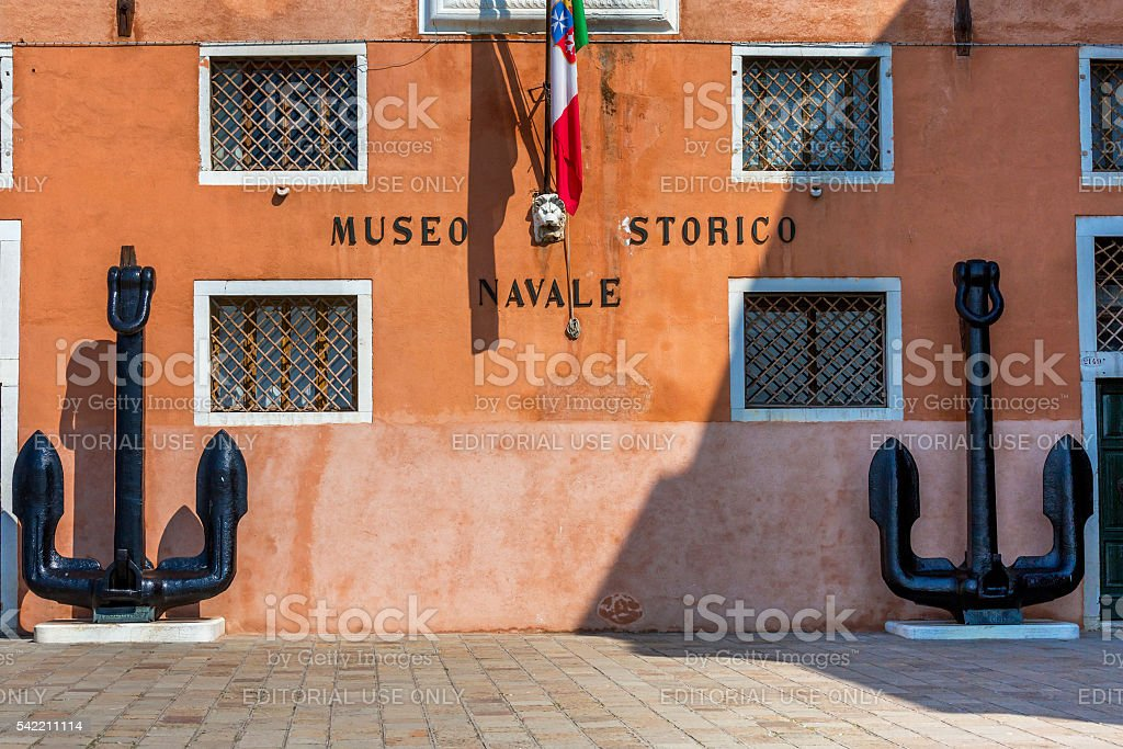 Venice Naval History museum stock photo