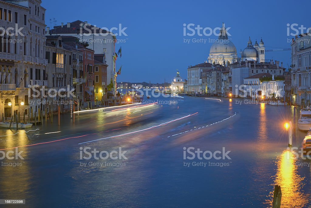 Venice night stock photo