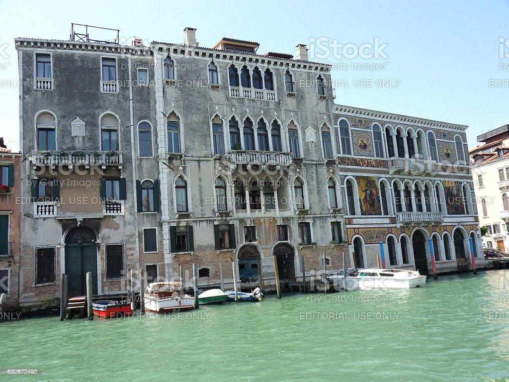 Venezia - Palazzi Morosini- Barbarigo stock photo