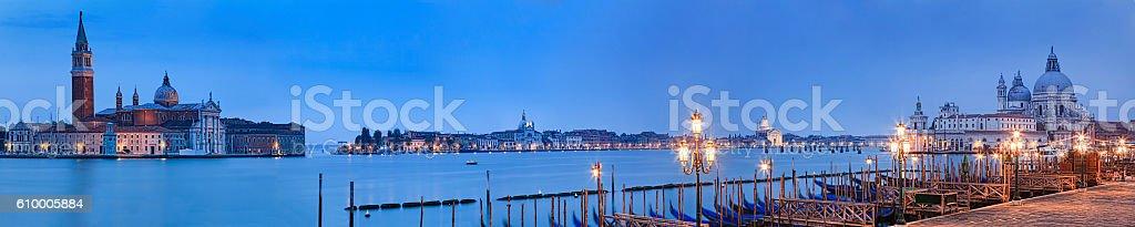 Venice Pier 2 Maggiore Santa Maria Rise stock photo