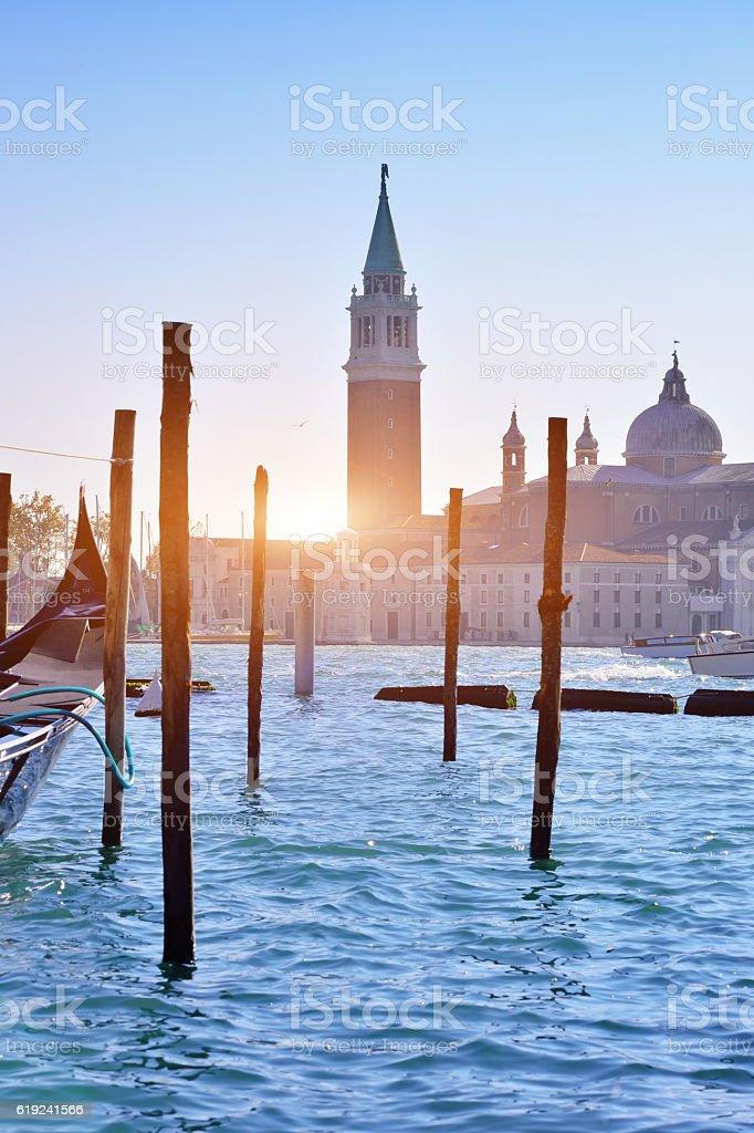 Venice Pier, San Giorgio Maggiore stock photo