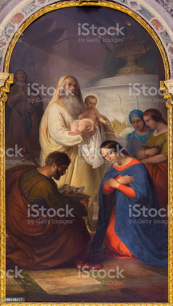 Venice - Presentation of Jesus in the Temple by Paoletti stock photo