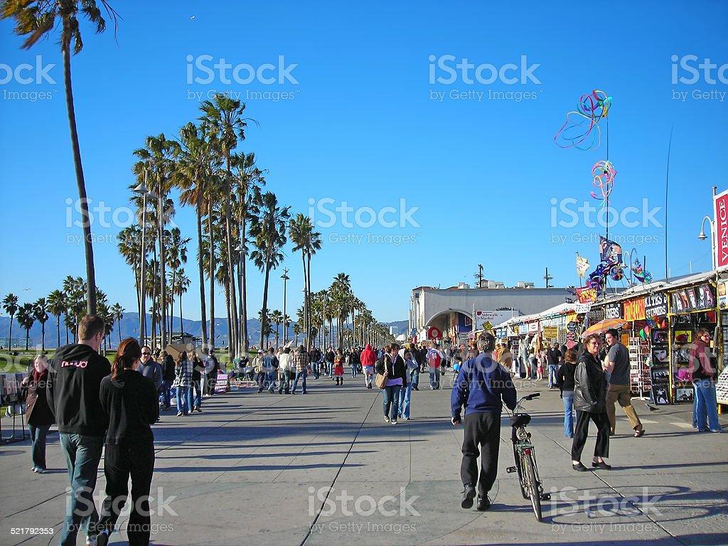 Venice promenade stock photo