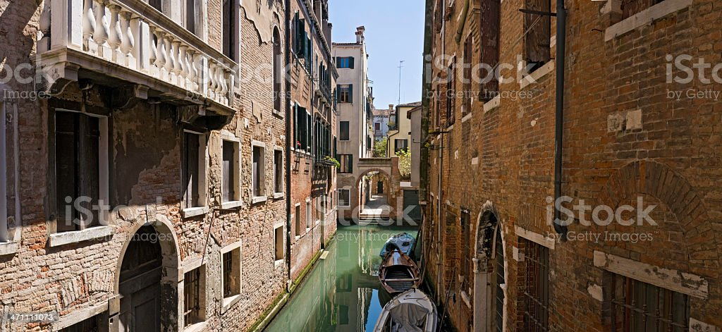 Venice quiet canals balconies royalty-free stock photo