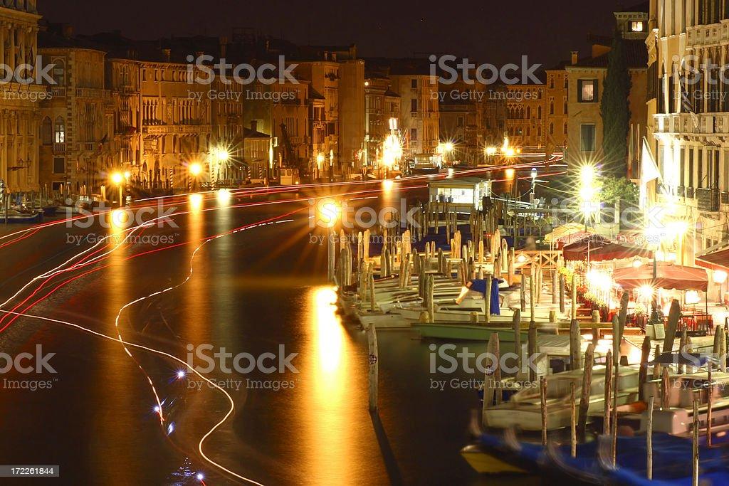 Venice - Rialto area by night royalty-free stock photo