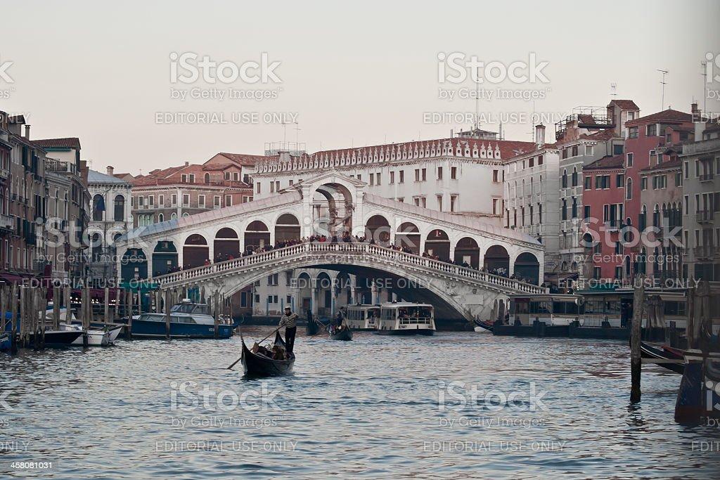 Venice - Rialto bridge horizontal royalty-free stock photo