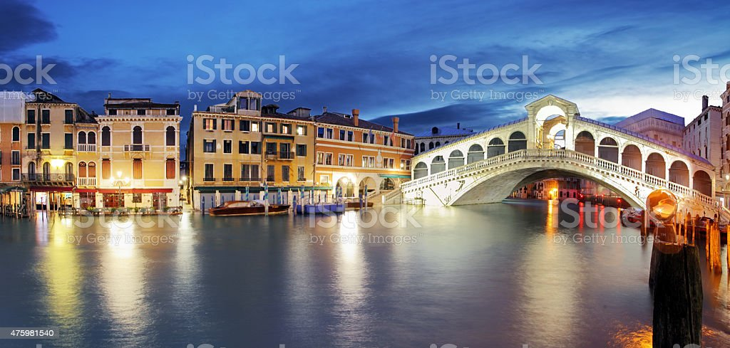 Venice, Rialto Bridge. Italy. stock photo