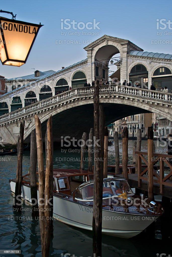 Venice - Rialto bridge stock photo