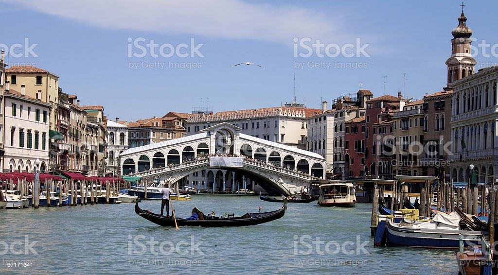 Venice Rialto Bridge royalty-free stock photo