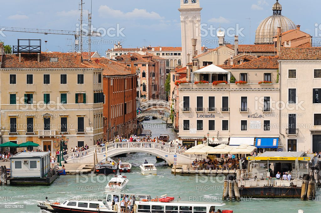 Venice Rio dei Greci canal stock photo
