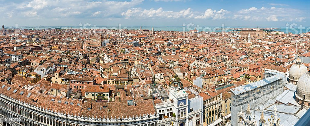 Venice rooftop cityscape royalty-free stock photo