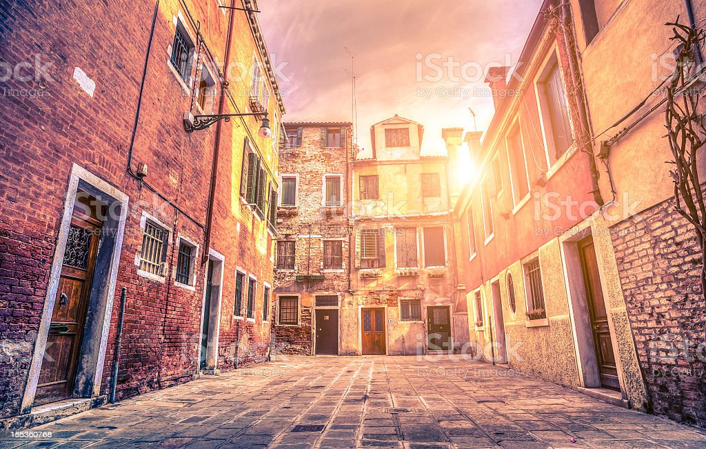 Venice Rustic Alley royalty-free stock photo