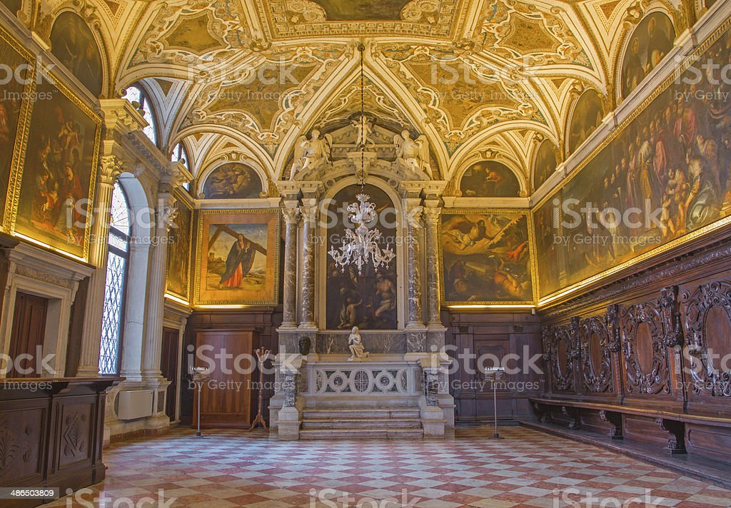 Venice - Sacristy of Basilica di san Giovanni e Paolo stock photo