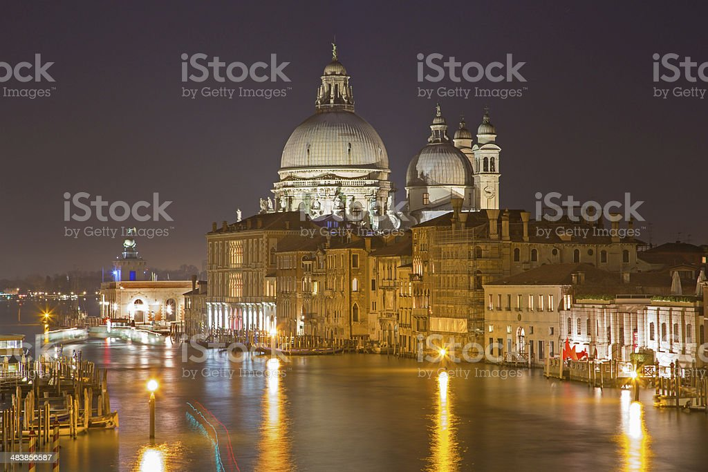 Venice - Santa Maria della Salute and Canal Grande royalty-free stock photo