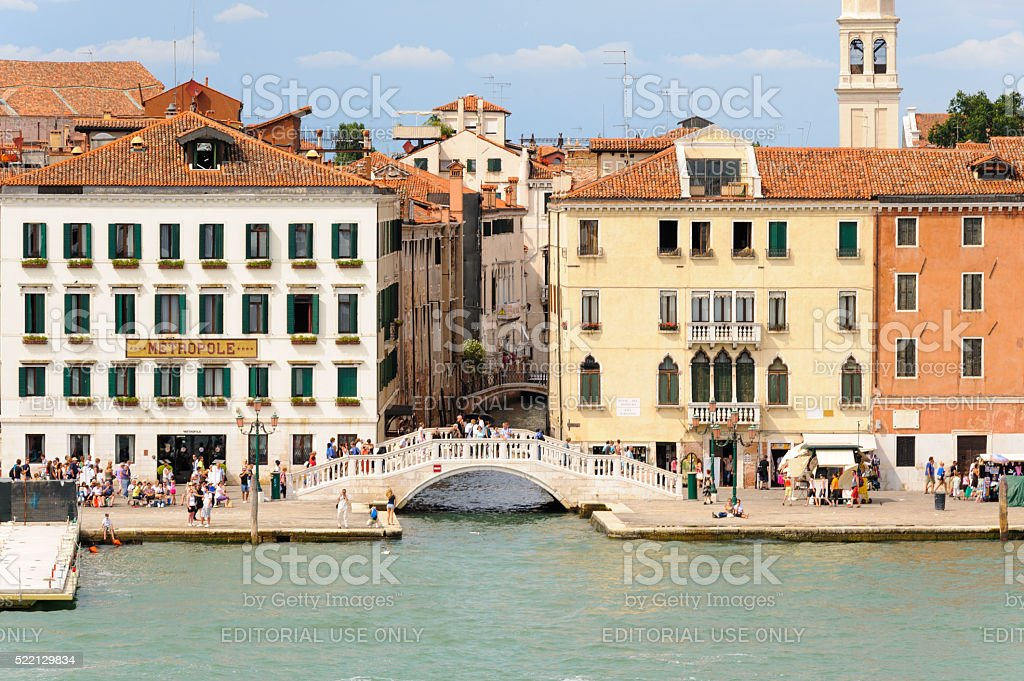 Venice Ponte del Sepolcro stock photo