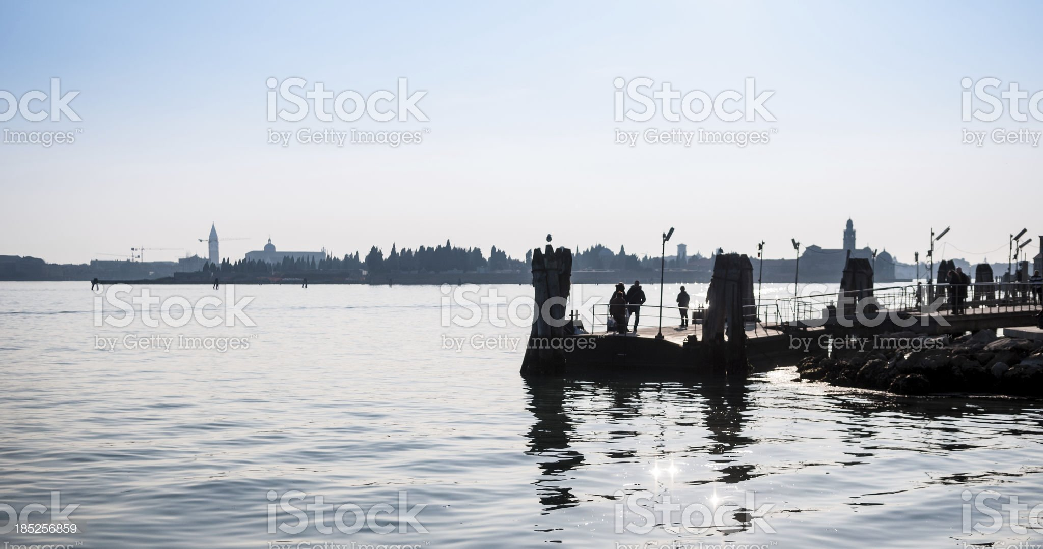 Venice silhouette royalty-free stock photo