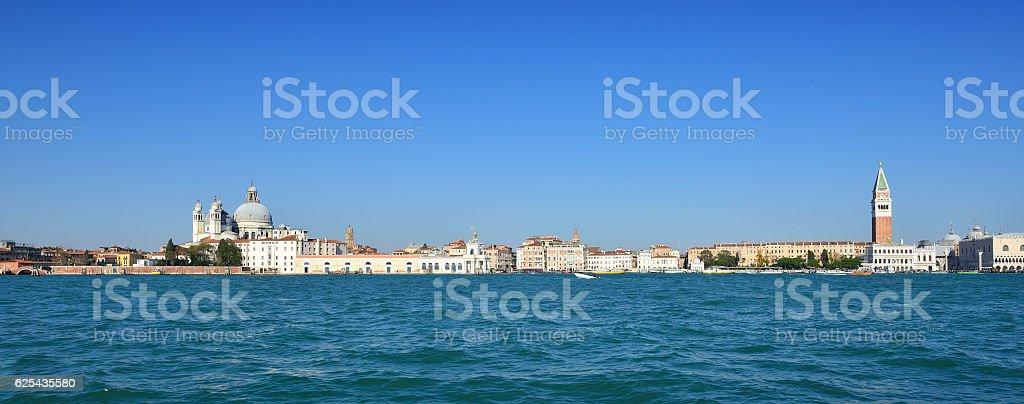 Venice Skyline Panoramic, Italy stock photo