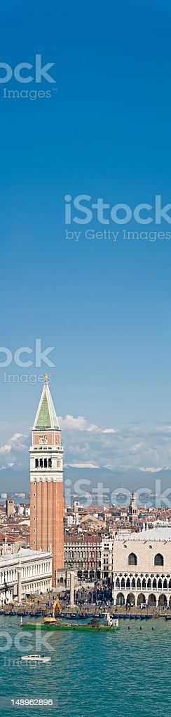 Venice St Marks Campanile banner royalty-free stock photo