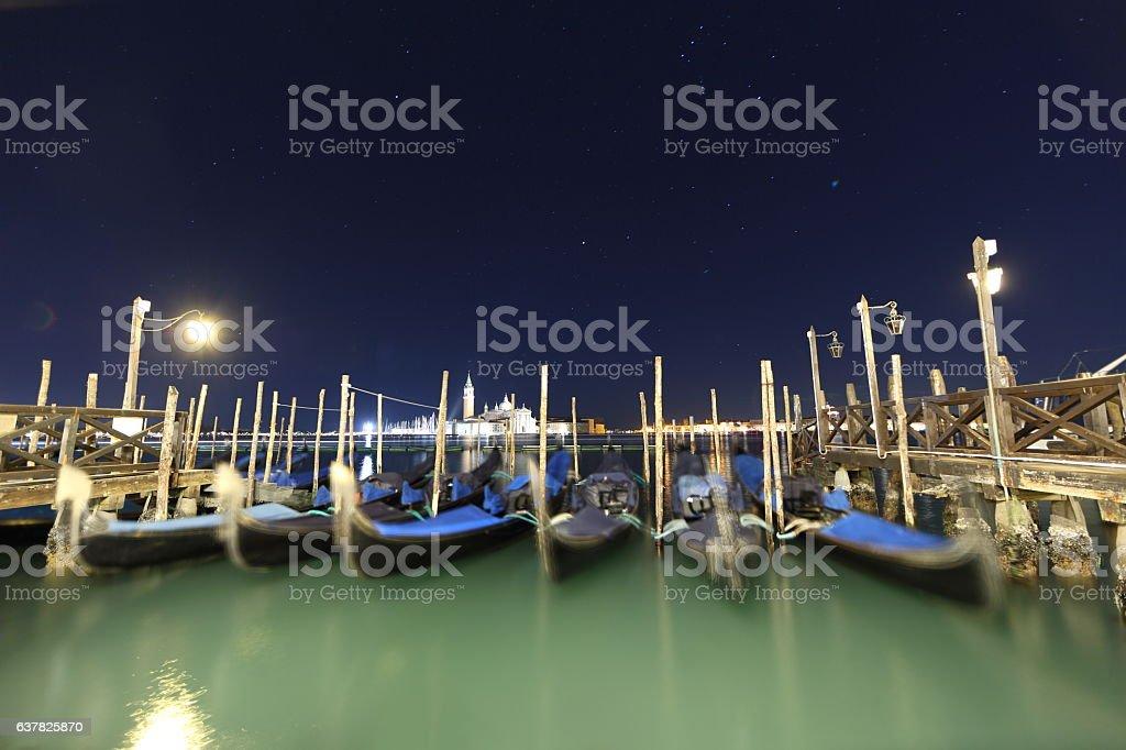 Venice Starry Night stock photo