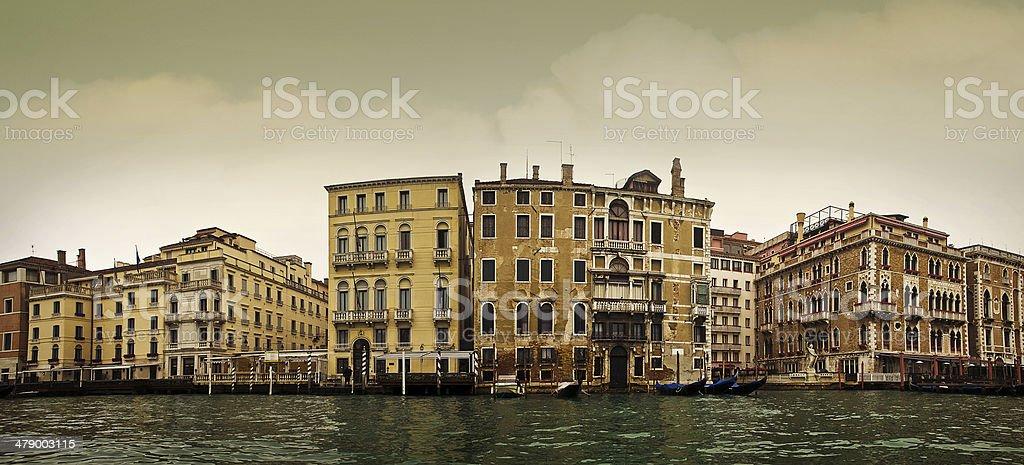 venice street panoramic royalty-free stock photo