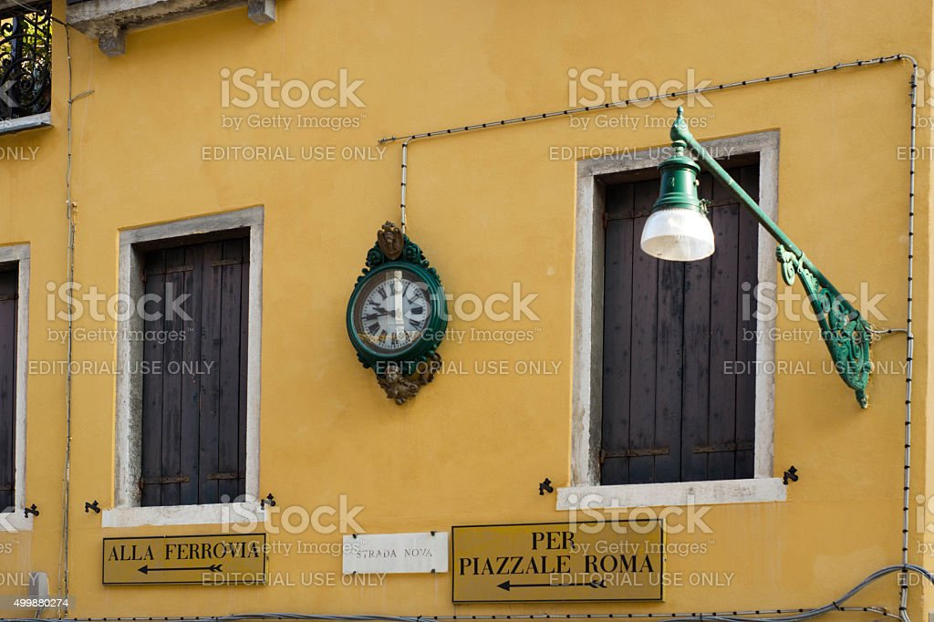 Venice street stock photo