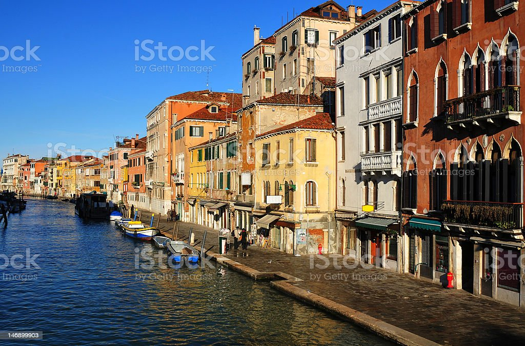 Venice - street view from Ponte delle Guglie stock photo