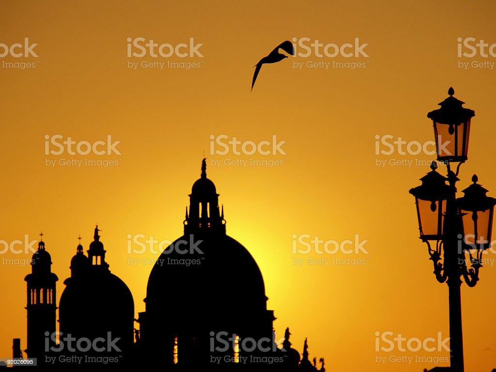 Venice sunset royalty-free stock photo
