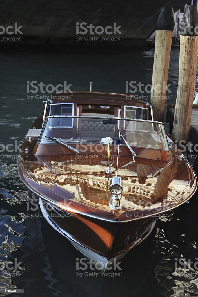 Venice taxi royalty-free stock photo