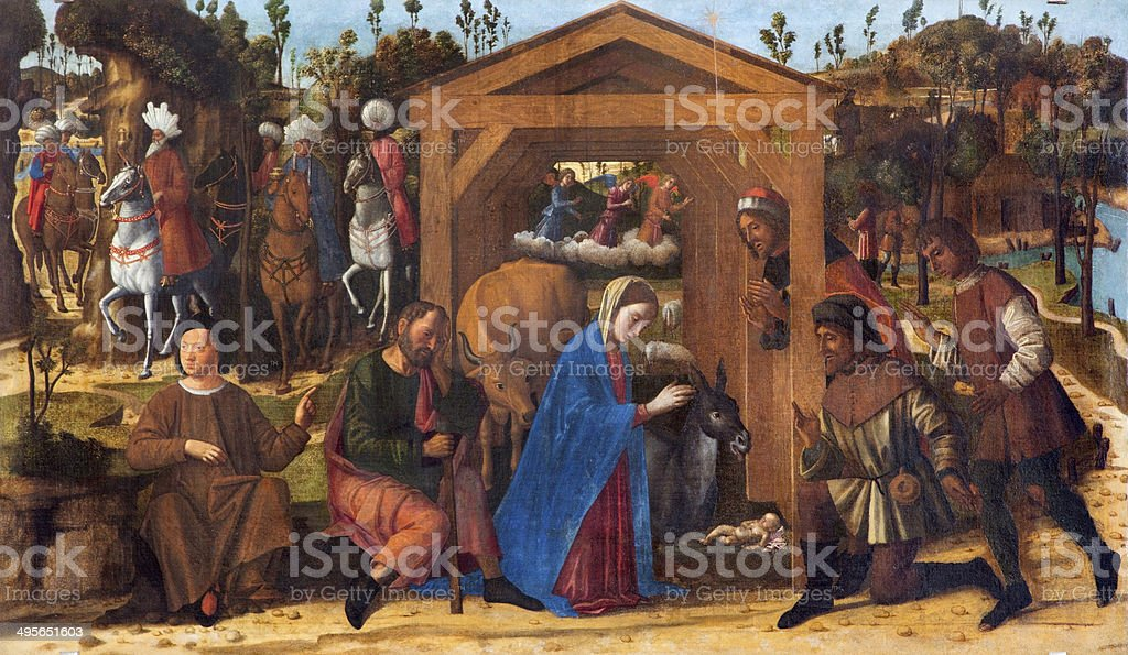 Venice - The Adoration of Shepherds paint from Burano royalty-free stock photo