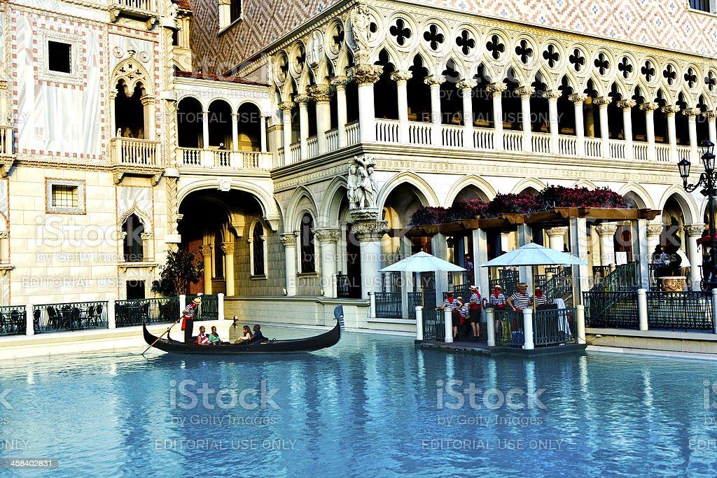 Venice Theme Venetian with Gondola on water royalty-free stock photo
