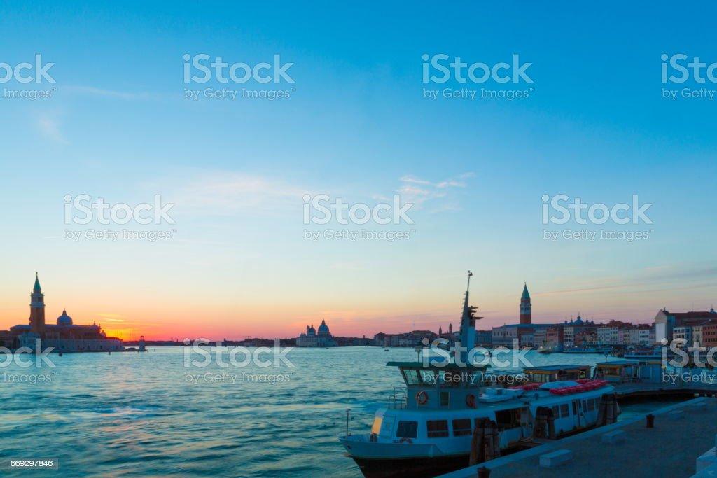 Venice Twilight Along the Coast stock photo
