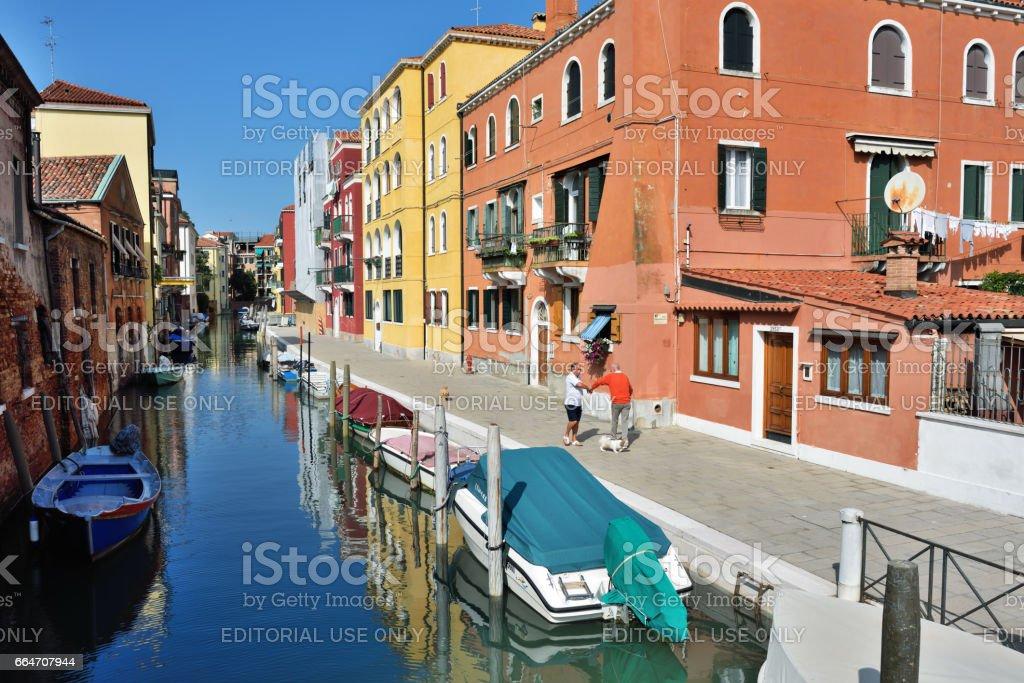 Venice urban life stock photo